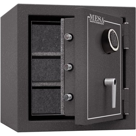 Mesa Safe MBF2020E Fire Resistant Security Safe with Electronic Lock, Hammered Grey
