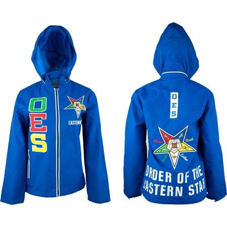 Big Boy Eastern Star Divine S2 Hooded Ladies Windbreaker Jacket [Royal Blue - XL]