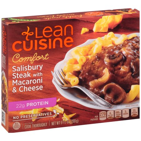 Lean Cuisine Comfort Salisbury Steak With Macaroni And Cheese 9 5 Oz Box