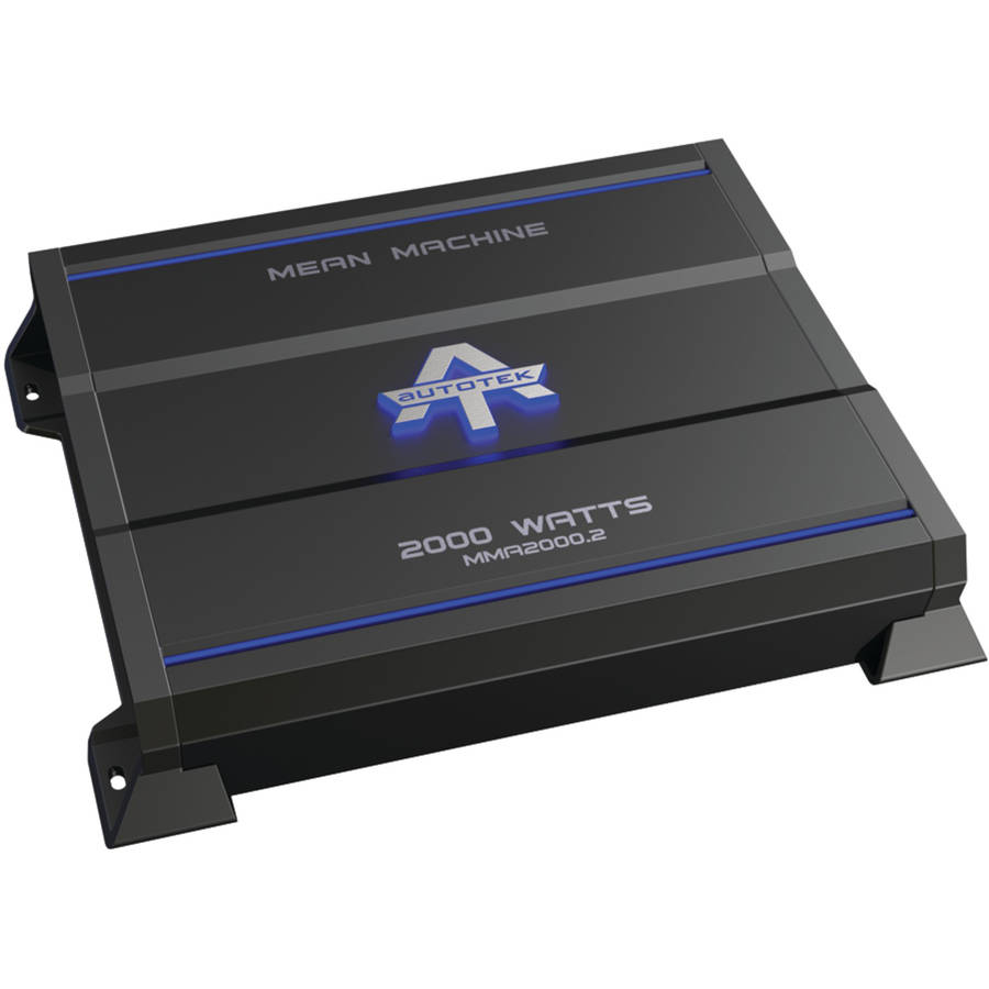 Autotek MMA2000.2 The Mean Machine 2-Channel Class AB Amp, 2,000 Watts