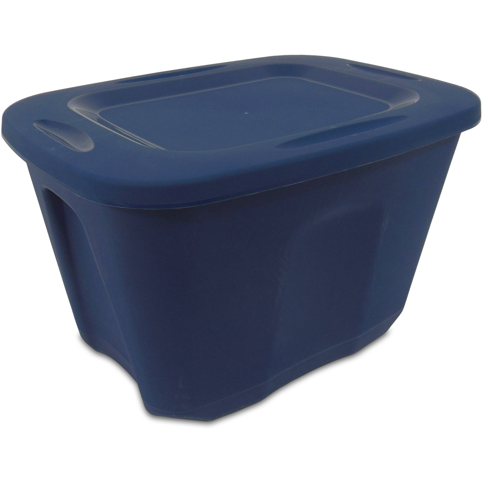 Homz 10-Gallon Storage Tote Set, Blue