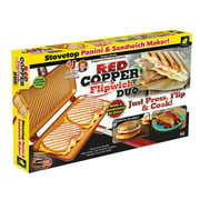 Grill Pan Double Sided Folding Sandwich Maker Flipping Griddle Copper Induction Safe Large Pan