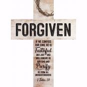 Wall Cross-Forgiven-Rustic (12 x 16)
