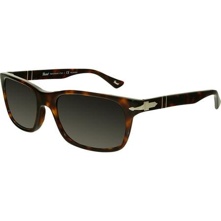 Persol Women's Polarized PO3048S-24/57-55 Tortoiseshell Rectangle Sunglasses
