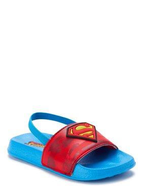 Superman Boys Slide Sandals (Toddler Boys)