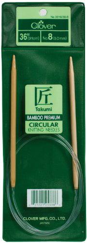 Takumi Bamboo Circular 36 Inch Knitting Needles Size 8 Bamboo Knitting Needles By Clover Walmart Com Walmart Com