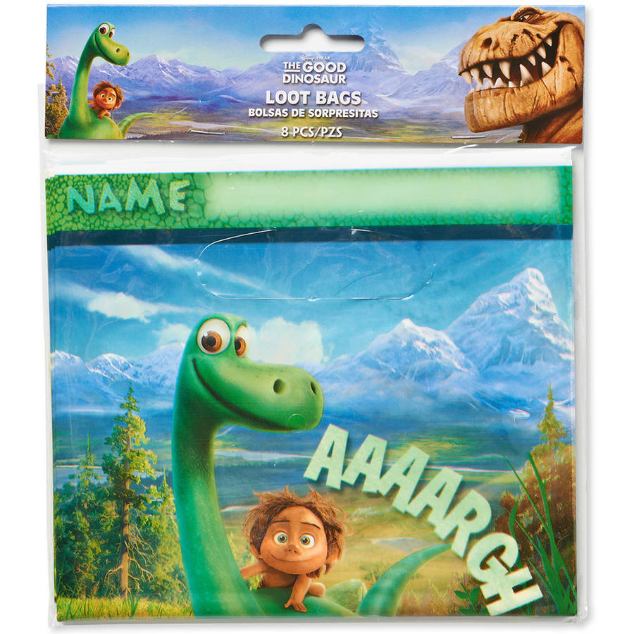 The Good Dinosaur Treat Bags, 8 Count, Party Supplies