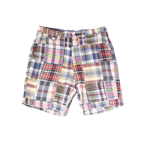 Polo Plaid Shorts (Mens Shorts Classic-Fit Plaid-Print 36)
