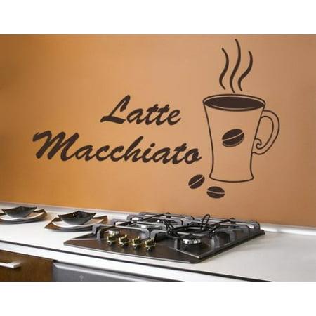 Latte Macchiato Coffee Wall Decal wall decal sticker mural vinyl art h