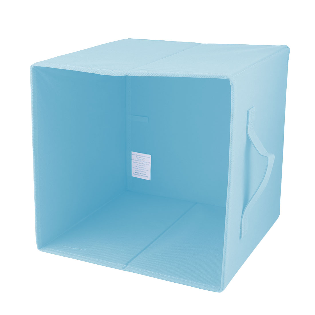 Apartment Non-woven Fabric Foldable Books Cosmetics Holder Storage Box Sky Blue - image 2 of 5
