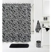Your Zone Zebra Decorative Bath Shower Curtain, 1 Each