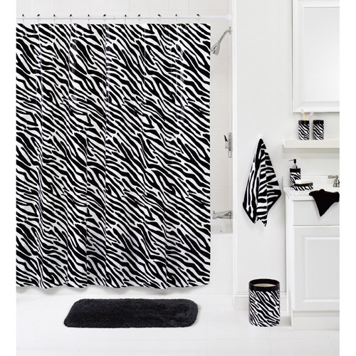 Your Zone Zebra Decorative Bath Collection - Shower Curtain