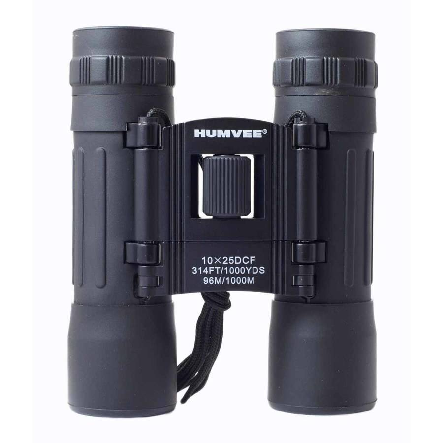 Anti-Reflective Compact Binoculars with Carrying Case, Humvee, 10x25, Comes in Multiple Colors