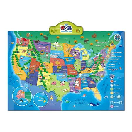 Map Of Usa Interactive.Smart Play My Usa Interactive Map Walmart Com