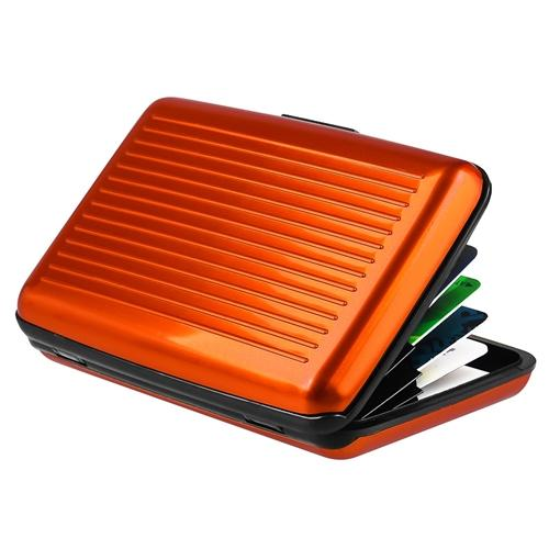 Zodaca Orange Business Aluminum ID Credit Card Wallet Case Holder Metal Box Pocket