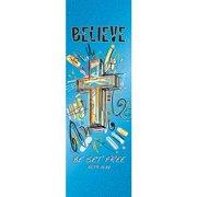 Banner-Believe Cross (2' x 6') (Indoor)