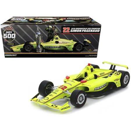 Greenlight 11071 Dallara Indy Car No22 Simon Pagenaud Menards Team Penske Indianapolis 500 Champion 2019 1 by 18 Diecast Model Car Indy 500 Racers