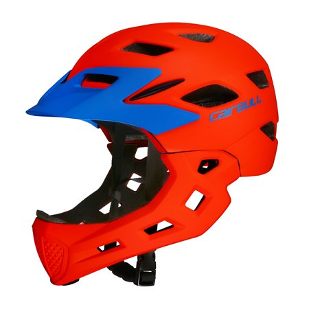 Kid Bike Full Face Helmet Children Safety Riding Skateboard Helmet Skating Rollerblading Sports Protective Equipment Detachable (Best Full Face Helmet For The Money)