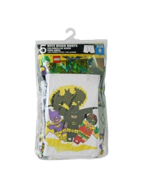 Lego Batman Boys' Boxer Briefs, 5 Pack