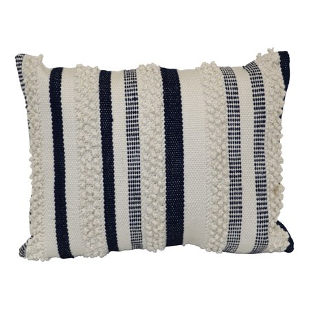 Better Homes & Gardens Navy Woven Pillow