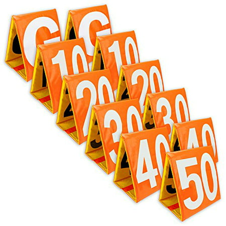 Football Yard (Crown Sporting Goods Day & Night Football Yard Markers, Full Set of 11)