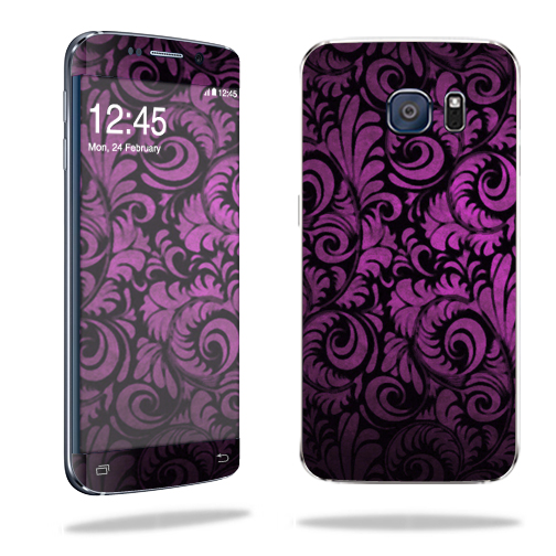MightySkins Protective Vinyl Skin Decal for Samsung Galaxy S6 Edge wrap cover sticker skins Purple Style