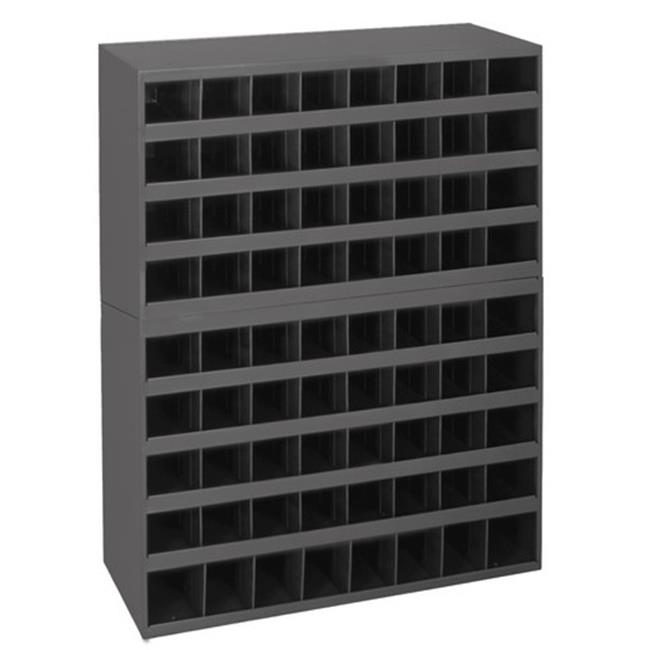 Durham 348-95 42 x 33.75 x 8.5 in. Gray Prime Cold Rolled Steel 72 Opening Bin, Gray - 2 Piece
