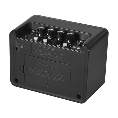 NUX Mighty Lite BT Mini Ampli guitare de bureau électrique 3W Amp 3 canaux Intégration des effets de reverb à retard 9 Patterns de batterie Métronome Tape Tempo - image 4 of 7