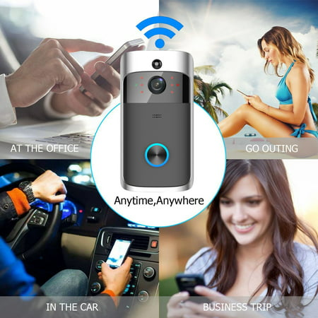 Wireless Battery Video Doorbell Home Security WiFi Smartphone Control Door Bell Camera - image 7 of 12