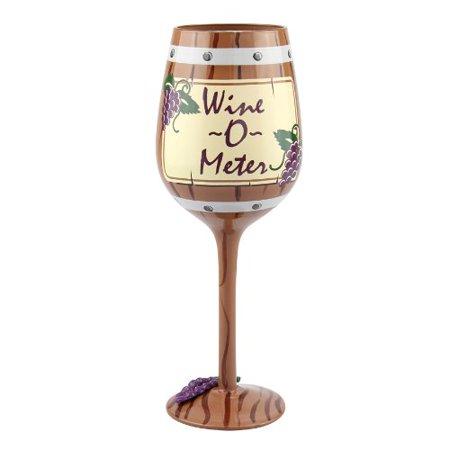 Top Shelf Wine O Meter Wine Glass