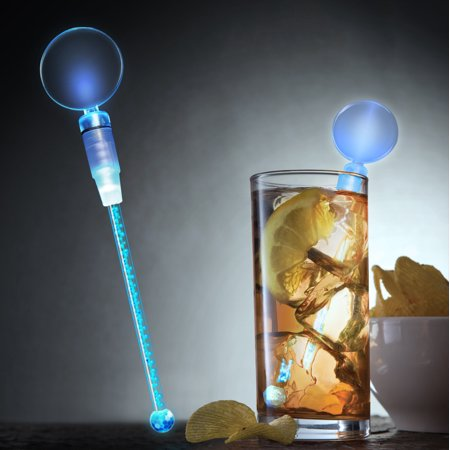 FlashingBlinkyLights Cocktail Party Light Up LED Swizzle Sticks (Party Swizzle)