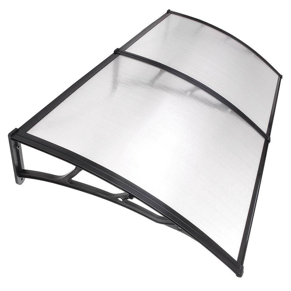 "Yescom 79""x40"" Door Window Outdoor Awning Patio Cover UV Rain Protection 2 whole Polycarbonate Hollow Sheets"