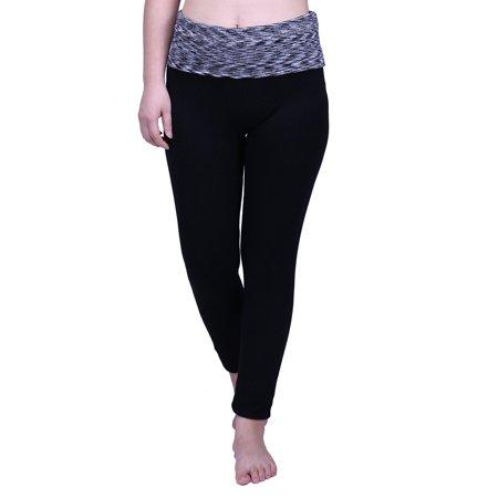 389f087364f35 HDE - HDE Women's Maternity Yoga Pants Stretch Pregnancy Leggings Fold Over  Waistband (Black Grey Space Dye, Medium) - Walmart.com