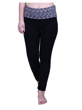 f48b204221e Product Image HDE Women s Maternity Yoga Pants Stretch Pregnancy Leggings  Fold Over Waistband (Black Grey Space Dye