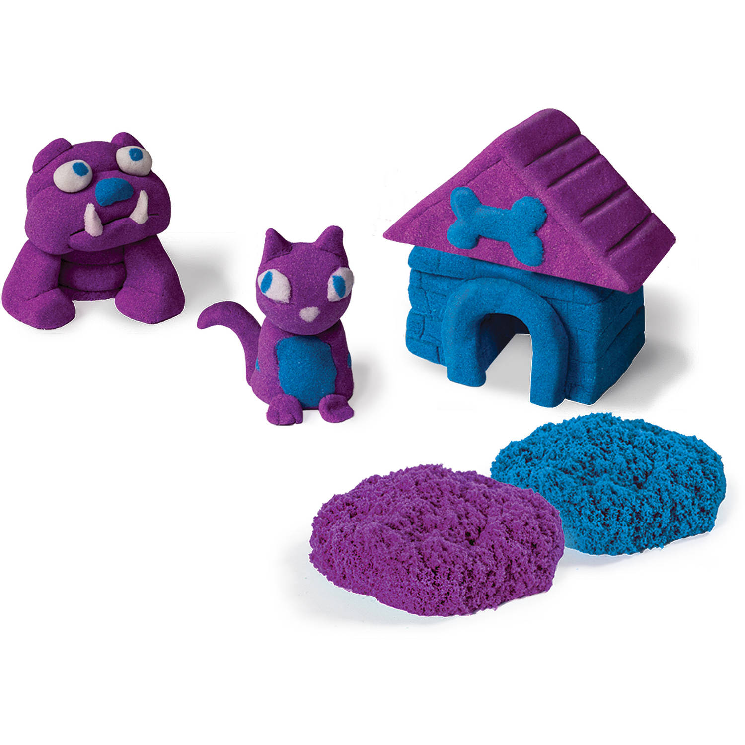 Kinetic Sand Build 1lb Color Pack, Purple and Blue