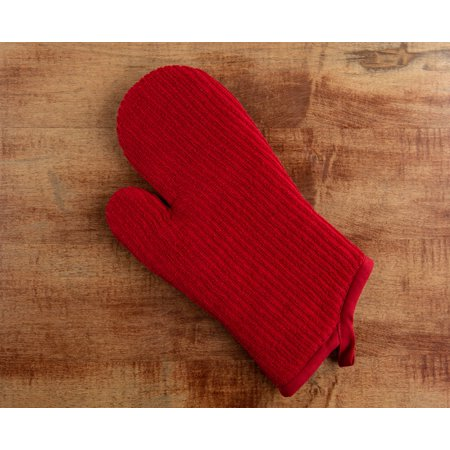 Mainstays Red Cotton Terry Oven Mitt, 12.5 in x 7 in (Chocolate Oven Mitt)