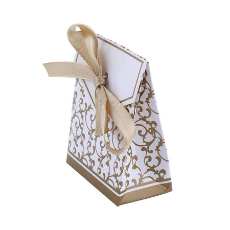 2 Colors 10PCS Elegant Wedding Party Favor Gift Candy Boxes Paper Bags Ribbon Type Hot Sale, Wedding Candy box,Wedding Candy Bag
