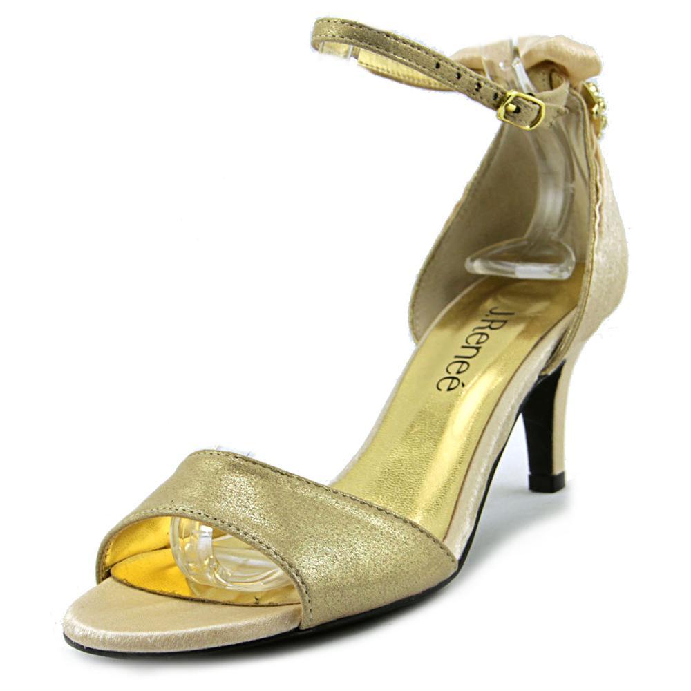 J. Renee Andsell Open-Toe Synthetic Slingback Heel by J. Renee