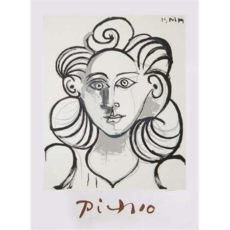 Pablo Picasso 22596 Portrait de Femme, Lithograph on Paper 29 In. x 22 In. - Black, White - image 1 de 1