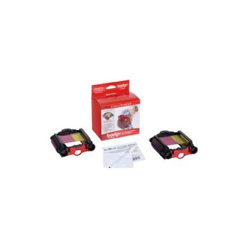 Badgy by Evolis 2 Ribbon pack & 2 Cleaning Kits
