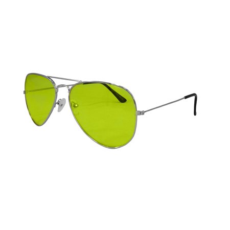 Aviator Aviators Style Yellow Lens Sunglasses Sun Eye Glasses Eyeglasses - Yellow Eyed Grass