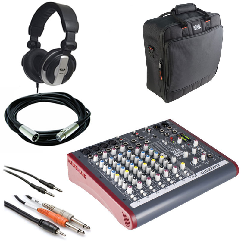 Allen & Heath ZED-10FX Multipurpose Miniature Mixer + Gator Cases G-MIXERBAG + Headphone +... by Allen & Heath