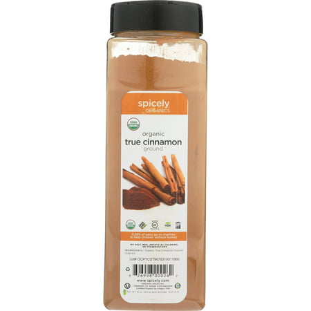 Spicely Organic Spices - Spicely Organics Cinnamon Ground Ceylon Club Size Certified Gluten Free