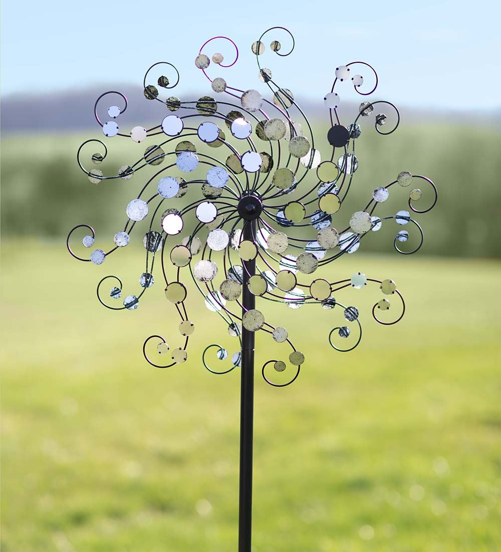 Wind & Weather Mirror-Disc Octopus Wind Spinner for Gardens by Wind Spinners