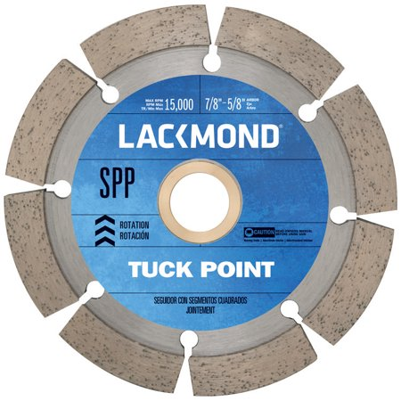 Lackmond 7-Inch Tuck Pointing Wheel with 7/8-5/8 Arbor Bushing