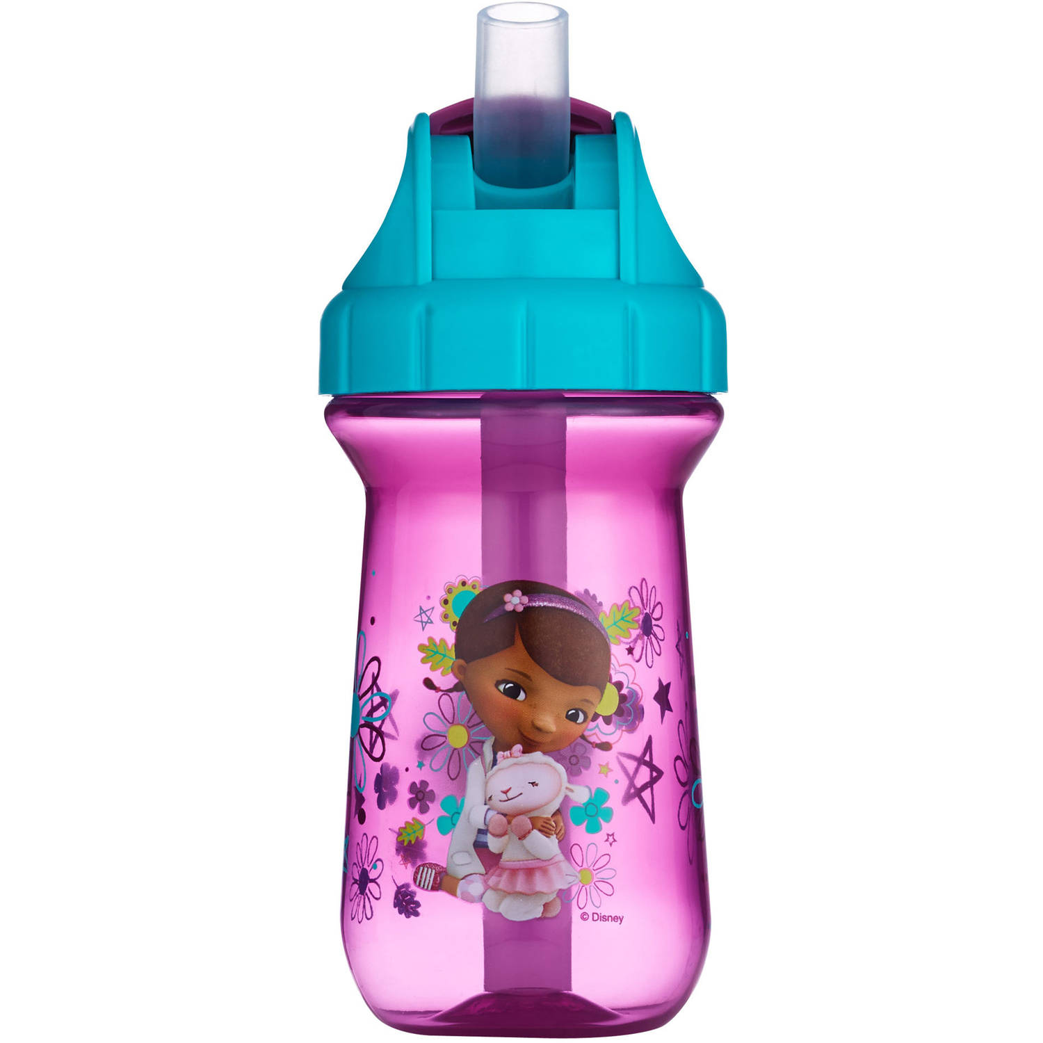 The First Years Disney Junior Doc McStuffins Flip Top Straw Cup, BPA-Free, 10 oz