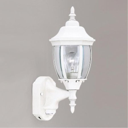 Designers Fountain Tiverton Motion Detector - One Light Outdoor Wall Lantern, White - Clear Beveled