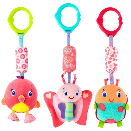 Bright Starts Pretty In Pink Chime Along Friends - Owl