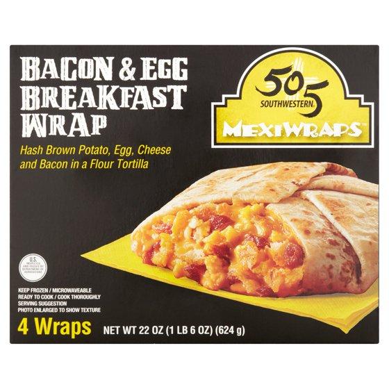 1a0c4e163696 505 Southwestern MexiWraps Bacon & Egg Breakfast Wrap, 5.5 oz, 4 count