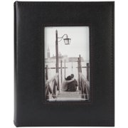 "Sewn Frame Photo Album 7""X9"" 200 Pockets-Black"